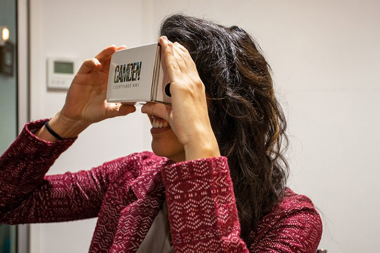 Wagstaffs Google Cardboard for Camden Courtyards